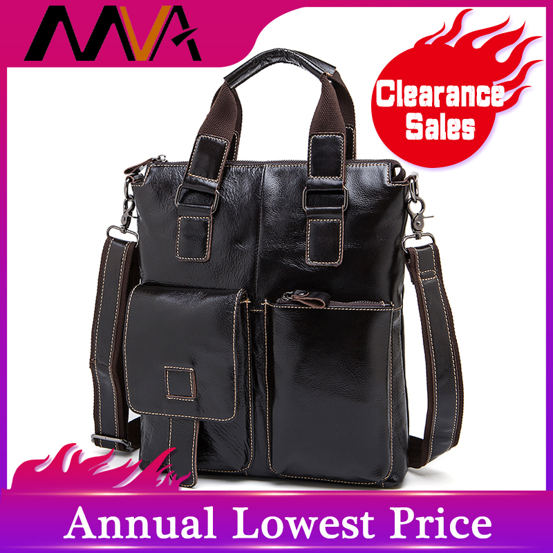 MVA Man Bags Genuine Leather Messenger Bag Men Laptop Briefcase Male Shoulder Bags For Documents Business