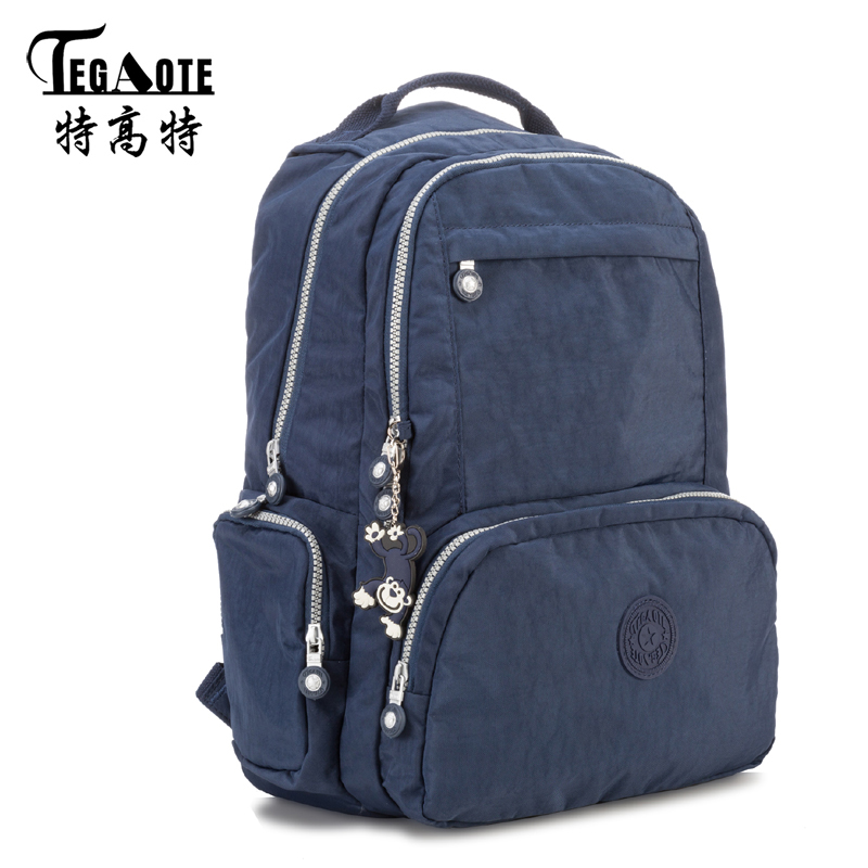 TEGAOTE Backpacks Women School Backpack for Teenage Girls Mochila Feminina Escolar Nylon Travel Laptop Bagpack Female Sac A Dos vintage cute owl backpack women cartoon school bags for teenage girls canvas women backpack brands design travel bag mochila sac
