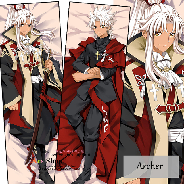 Anime Characters 160cm : Anime fate grand order archer male pillowcase hugging body