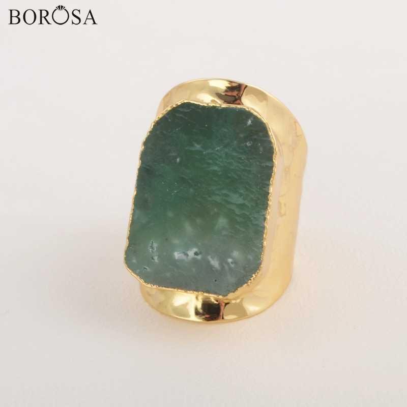 BOROSA หินงานแต่งงานแหวนออสเตรเลีย Jades ทองแหวน CL105