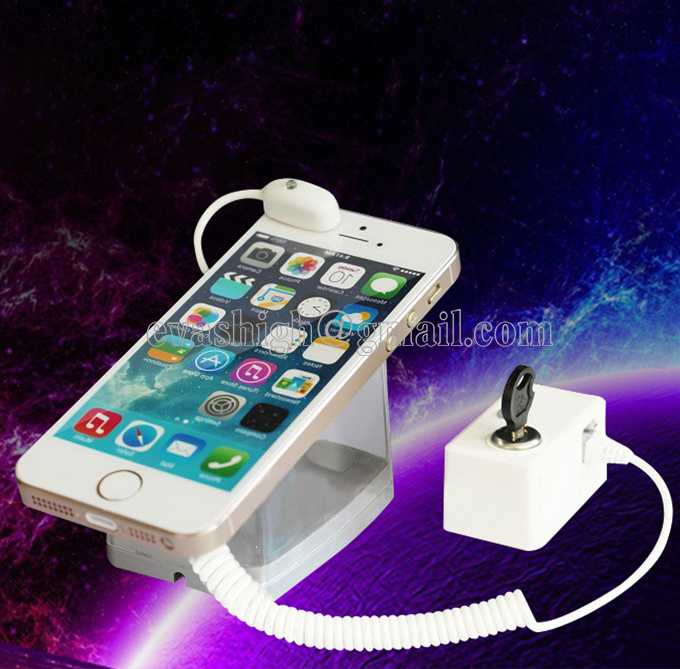 Cell phone security stand tablet display holder laptop alarm lock ipad sensors cable PC anti-theft device for watch earphone wholesale price mobile phone anti theft alarm display stand with charging for exhibition