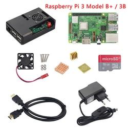 Raspberry Pi 3 Модель B + (B плюс) или Raspberry Pi 3 Модель B + ABS чехол + вентилятор + SD карта + радиатор + Мощность адаптер + HDMI кабель