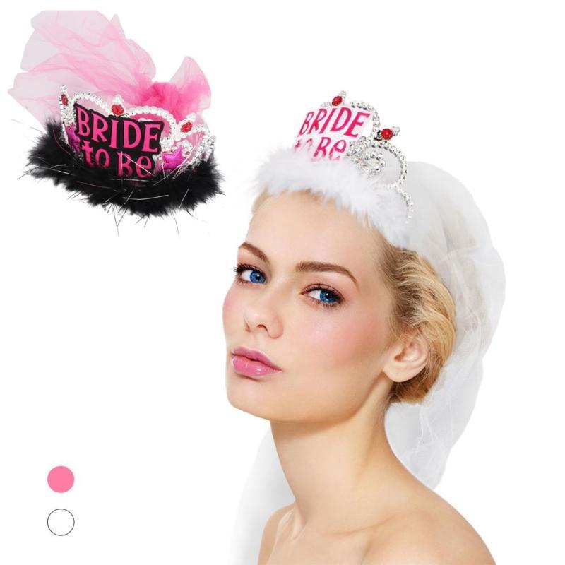 1pcs Brud att vara Veil Bridal Crown bröllop Tillbehör Bachelorette - Semester och fester - Foto 1