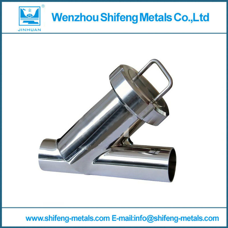 ZUCZUG 1.25'' Sanitary Stainless Steel SS304 Y type Filter Strainer f Beer/ dairy/ pharmaceutical/beverag /chemical industry 1 5 hygienic stainless steel ss304 inline straight strainer filter f beer dairy pharmaceutical beverag chemical industry