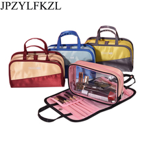 цена на Ladies Travel Women Make up Makeup Organizer Bag Cosmetic Bag Toiletry Travel Kits beautician Storage bag large capacity