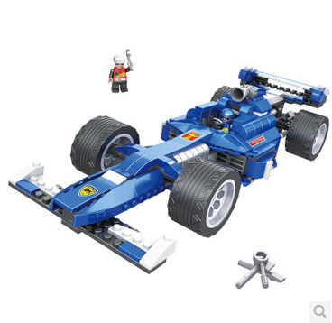 ФОТО COGO 3418 Formular 1 Racing Car Sports Car model 350 pcs Building Block Sets Educational DIY Bricks Toys