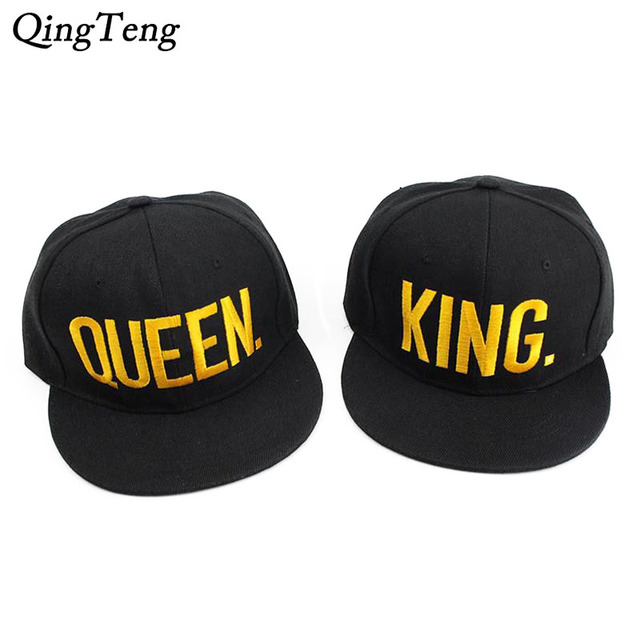 Gorra Plana King Queen Snapback Hat Acrylic Couple Baseball Cap Men Women  Lovers Gifts For Girl Boy Hip Hip Cap Last Kings Casqu ecf6874b1ba6