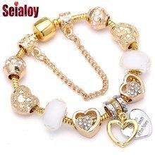 Seialoy новые модные золотые бренды браслеты для женщин и мужчин