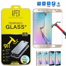 0 26mm 9H Curv Full Cover Tempered Glass Screen Protector Flilm sFor Samsung Galaxy S6 Edge