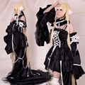 Chobits Freya Negro Chi Chi Hibiya Cosplay Piso-longitud Gothic Lolita Disfraces de Halloween para Las Mujeres Orden tamaño