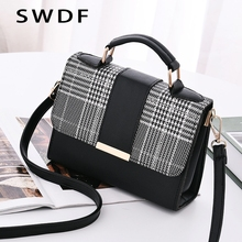 SWDF 2019 Summer Fashion Women Bag Handbags For Travel PU Shoulder Small Flap Crossbody Bags Messenger Purse
