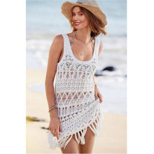 9194af576a GLANE Summer Swimsuit Lace Hollow Tassel Bikini Cover Up Sleeveless Women  Tops