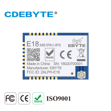E18-MD0PA0 Ebyte 2.4GHz 20dBm cc2530+PA RF SPI 1km wireless transmitter and receiver module 2pcs lot cdebyte e18 ms1 ipx spi smd 2 4ghz cc2530 wireless zigbee smart home automation module