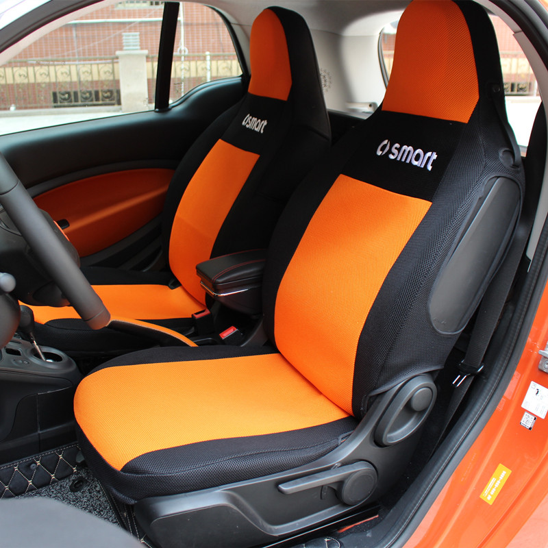 Tapis de maille mince de protecteur de siège fait sur commande pour Mercedes smart fortwo forfour 451 453 couverture intérieure de siège de voiture respirante et saleté