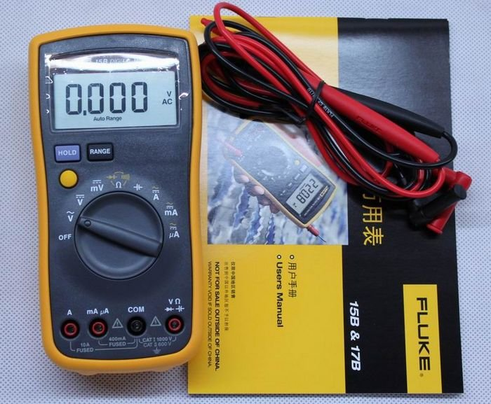 US $309 68 |100% Authentic New Fluke 177 True RMS Digital Multimeter Tester  Meters, with Backlight, Warranty, Free Express-in Computer Cables &