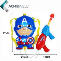 Retail America Captain Big Bag Water Gun Sports Game Shooting High Pressure Diecast Toys For Baby