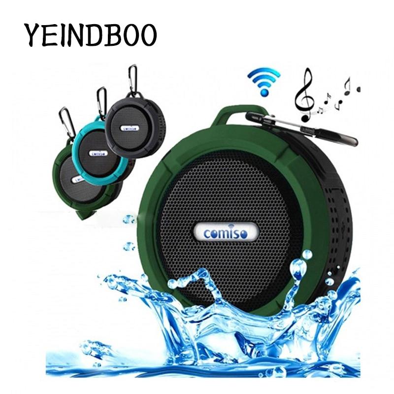 YEINDBOO Outdoor Wireless Bluetooth 4.2 Stereo Portable Speaker Built-in mic Shock Resistance IPX7 Waterproof Speaker Bass