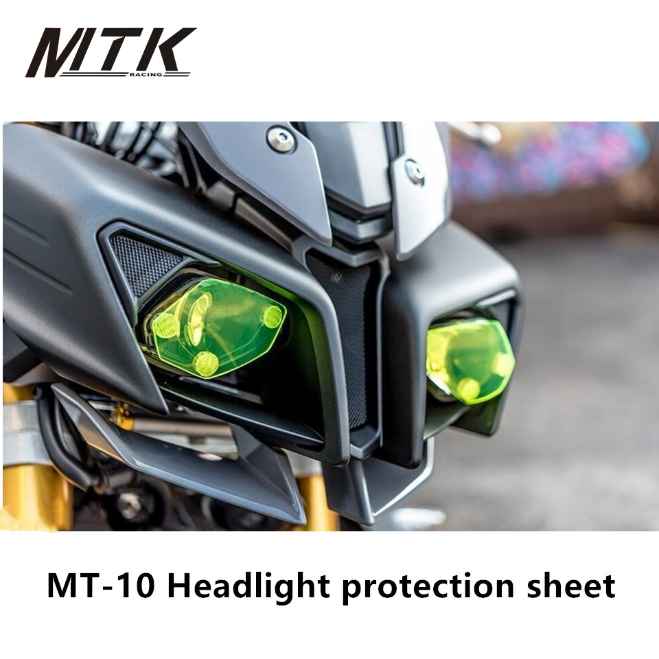 MTKRACING MT-10 Motorbikes Accessoris For Yamaha MT-10 Acrylic Headlight Protector Cover Screen Lens mtkracing for kymco ak550 motorcycle parts headlight protector cover screen lens ak 550 2017 2018