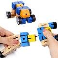 Transformador de torção e Trava Blocos Fidget Brinquedo Para Crianças De Madeira Enigma Figuras Fidget Autism Sensorial oyuncak Brinquedo de Presente de Aniversário