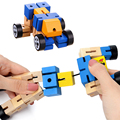 Twist and Lock Blocks Fidget Toy For Children Wooden Transformer Puzzle Figures Fidget Sensory Autism Toy Birthday Gift oyuncak