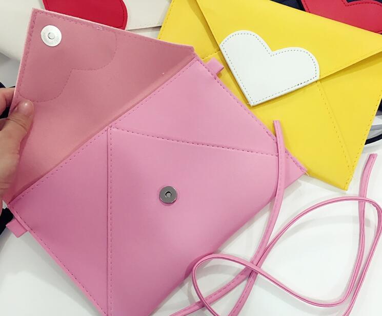 homensageiro sacolas envelope embreagem dia Color : White Pink Yellow Black