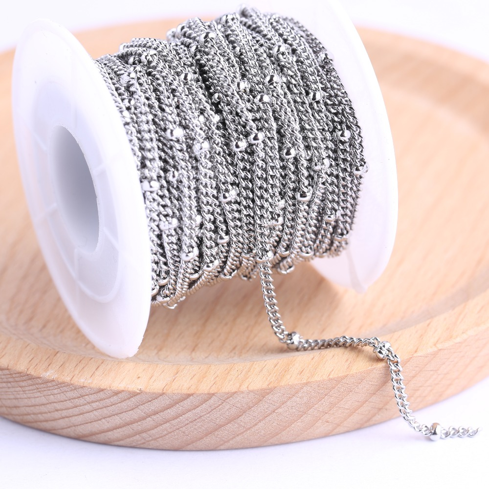 Onwear 10meters/roll Stainless Steel Necklace Chains Findings For Jewelry Making Diy Chaine Pour Fabrication Bijoux