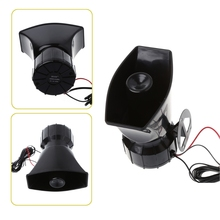 цена на 100W 12V Car Truck Alarm Police Fire Loud Speaker PA Siren Horn MIC System Kit