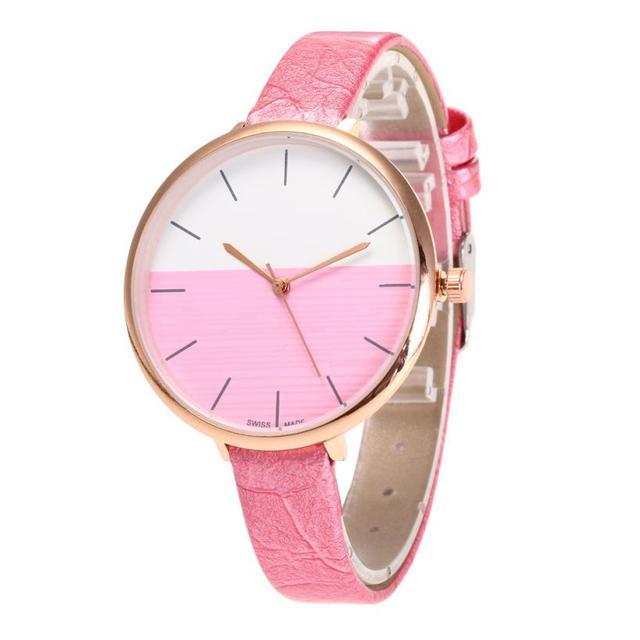 מפואר טמפרמנט גבירותיי שעוני יד מקרית 2018 פשוט מזכרות יום הולדת מתנות יפה נשים של קוורץ שעוני יד שעון # D