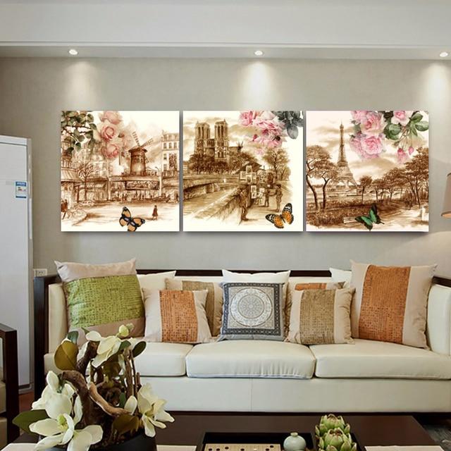 vintage home decor pittura moderna costruzione della parete di quadri su tela per soggiorno tela. Black Bedroom Furniture Sets. Home Design Ideas