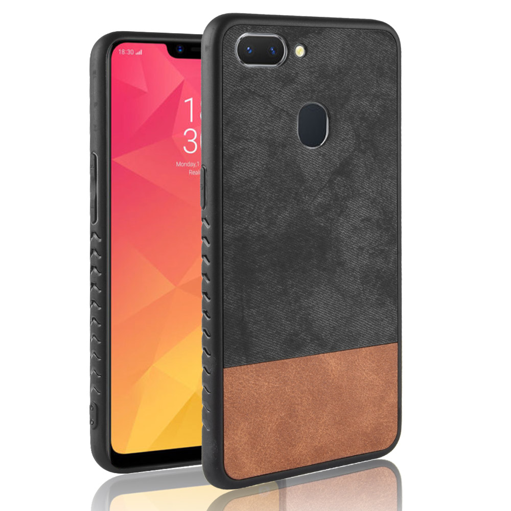 Oppo Realme 2 case Oppo Realme2 silicone edge fabric shockproof back cover coque cowboy PU Leather For Oppo A5/Realme 2 case
