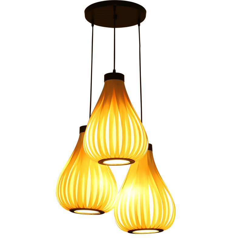 GZMJ Wooden LED Pendant Lights Lamps E27 Creative Wooden Bark Vase Pedant Light Living Room Home Country Lamp Fixture PLL-437 dia32cm 43cm 56cm hot selling vintage creative wicker round pedant light living room home decoration lamp free shipping pll 417