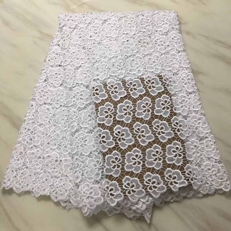 White Color Latest African Cord Lace Fabric Swiss Voile Lace 2018 High Quality Emboridery French Mesh