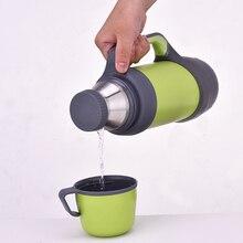 Isolierflaschen thermoskannen edelstahl 1L, 1.2L große größe außen reise-schale thermosflasche thermo kaffee garrafa termica sport