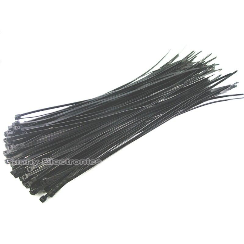 50pcs Black 4x300mm(12inch) Network Nylon Plastic Cable Wire Zip Tie Cord Strap