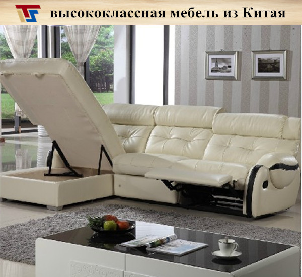 Free Shipping Furniture: Real Leather Sofa White Black Sleeper Couch Modern Living