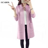 Women Korean Open Stitch Cardigan Brief Design High Quality Soft Handle Knitting Coat Spring Autumn Winter