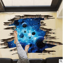 New 3 d wall stickers creative cosmic planet Can remove stuck stereo adornment picture stuck