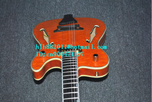 free shipping new 6 strings hollow electric guitar in orange for jazz music made in China LL31