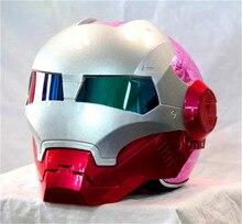 Личность мотоциклетный шлем Подлинного женского железа 610 человек ретро высокого класса off-road мотоцикл красный покрытие