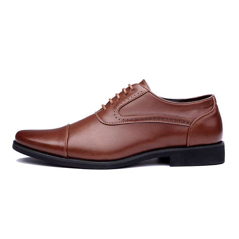 men spring working shoes luxury brand italian eurpean style pointed toe elegant male footwear dress working oxford shoes for men