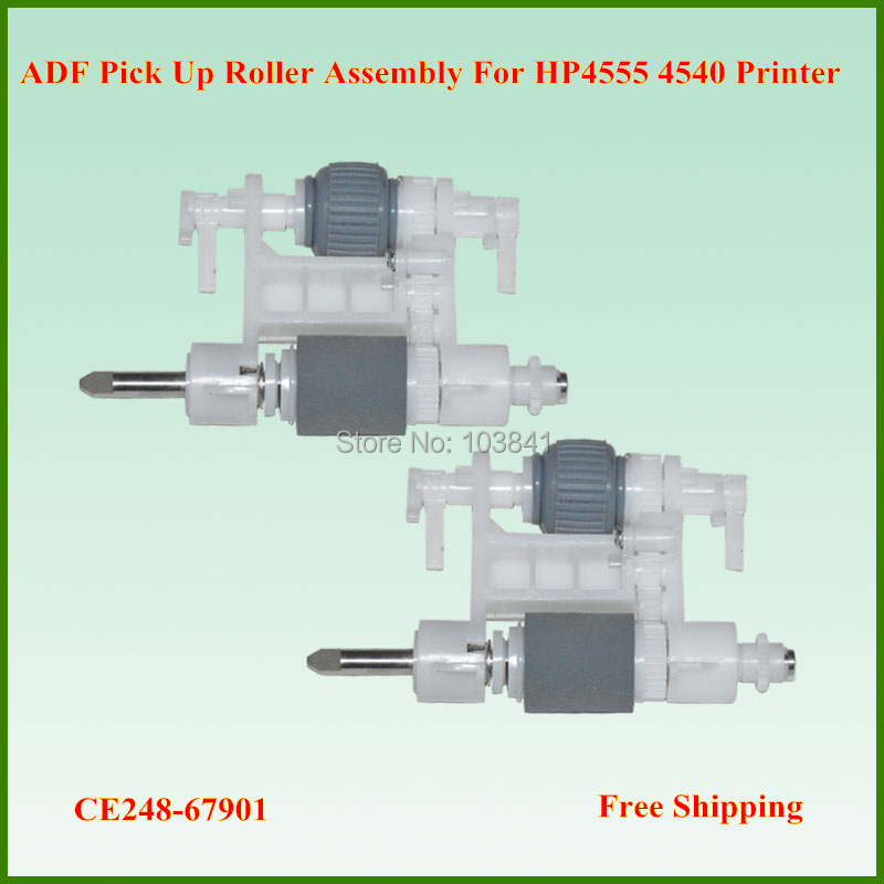 Free shipping 10pcs/lot Retail CE248-67901 Pick Up Roller spare parts ADF pickup roller Assembly For HP4555 4540 Printer  original new laser printer spare parts adf pickup feed roller assembly for hp 2820 2840 adf maintenance kits pickup roller