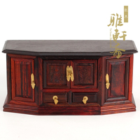 Zhai micro imitation of Ming and Qing Dynasty Furniture Gallery miniature mahogany crafts mahogany TV cabinet Home Furnishing or