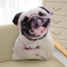CAMMITEVER 3D mignon chien coussin jouet Simulation Animal oreiller en peluche imprimé chien mignon oreiller coussin