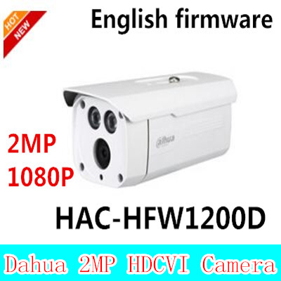 Dahua 2Megapixel 1080P Water-proof HDCVI IR-Bullet Camera HAC-HFW1200D 2mp HDCVI camera, free shipping 2016 dahua hac hfw2220e 2 4m 1080p ip67 water proof hdcvi ir bullet camera english firmware 2016 hot sale free shipping