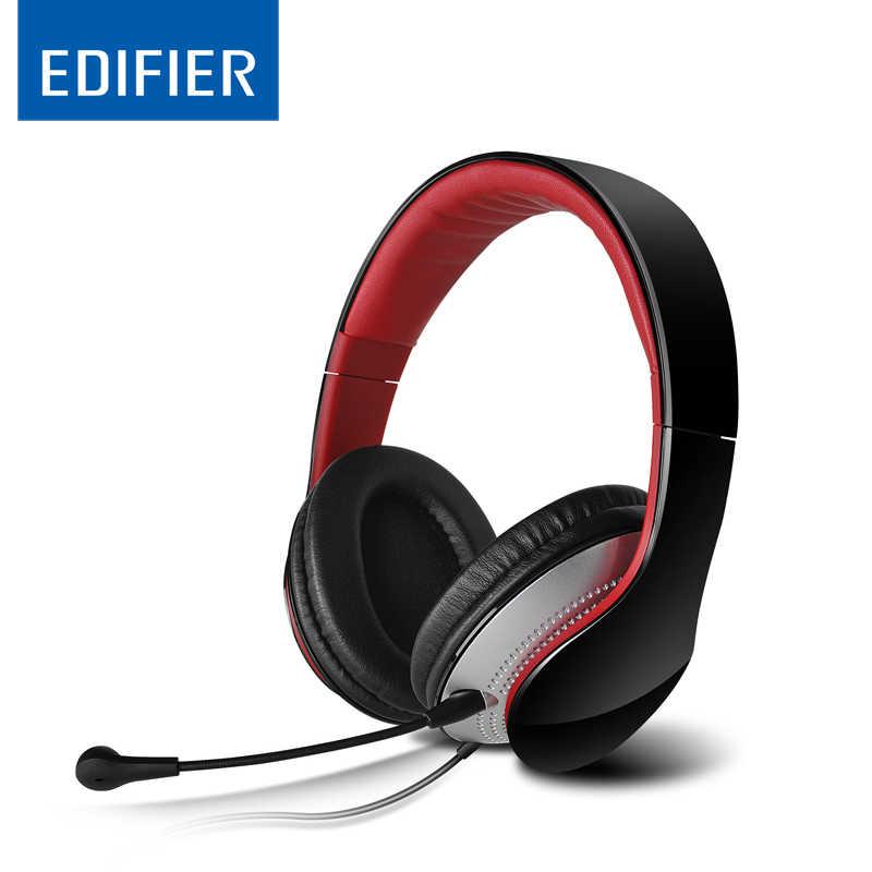 EDIFIER K830, że zestaw słuchawkowy wygodne 3.5mm Stereo słuchawki nauszne słuchawki z pałąkiem na głowę z izolacja akustyczna i regulacją głośności