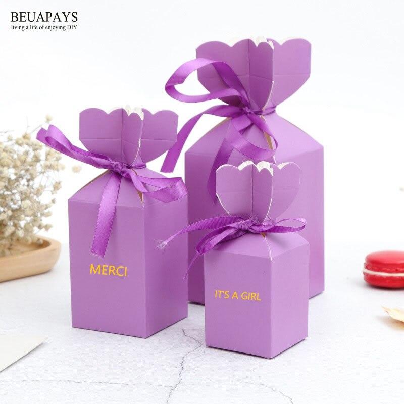 100pcs Personalized Customizing candy box wedding decoration merci baby shower it s a boy it s