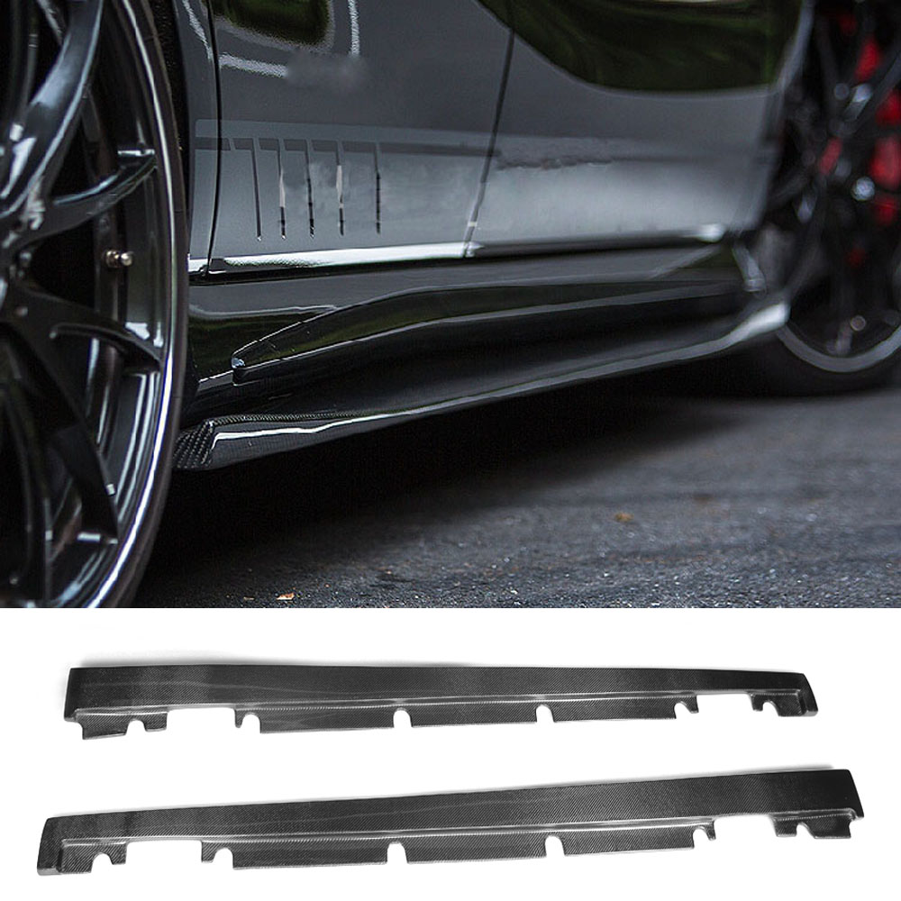 Carbon Fiber Side Skirts Apron Spoiler For Mercedes Benz W176 A Class A160 A180 A200 A250 A45 & CLA W117 CLA180 CLA45 AMG 13-17