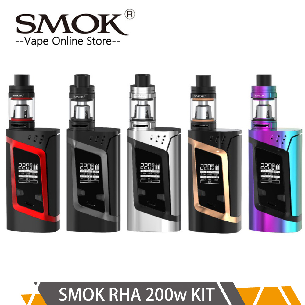 Pre-order Original Smok RHA 200w Kit with 3ml TFV8 Baby tank VW/TC/Memory LED Screen vaporizer Kit vs G-priv 2 kit x-priv kit купить недорого в Москве