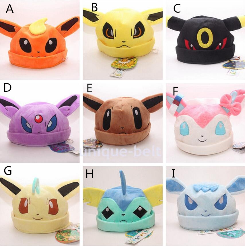 Pokemon Go Eevee Umbreon Sylveon Snorlax New Soft Plush Beanie Costume Hat Cap Gift