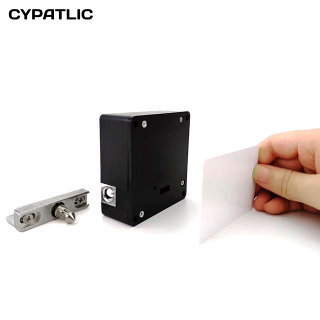 RFID Keyless Hidden Locker Cabinet Lock Private Card Lock Castle Black  Electronic Invisible Digital Cabinet Door